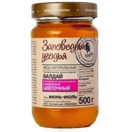 Медовед Заповедные угодья мед пчелиный натуральный цветочный, 500 г
