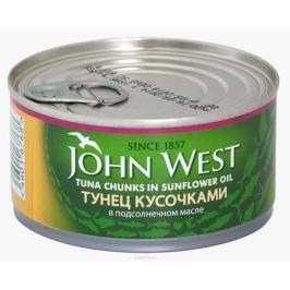 John West тунец кусочками в подсолнечном масле, 185 г