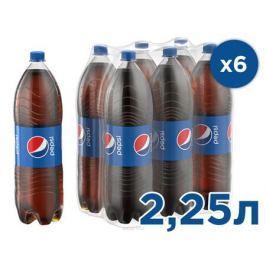 Pepsi-Cola напиток сильногазированный, 6 штук по 2,25 л