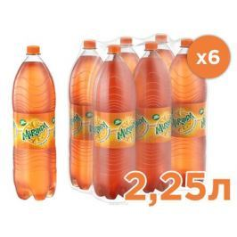 Mirinda Апельсин напиток сильногазированный, 6 штук по 2,25 л