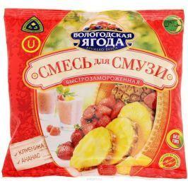 Кружево Вкуса Смесь для смузи из клубники и ананаса быстрозамороженная, 300 г