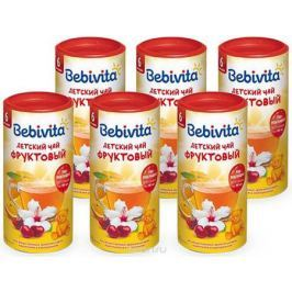 Bebivita чай гранулированный детский Фруктовый, с 6 месяцев, 6 шт по 200 г