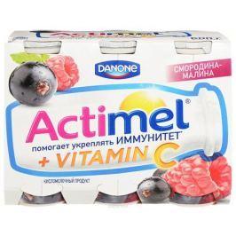Актимель Продукт кисломолочный, Смородина-Малина 2,5%, 6 шт по 100 г
