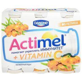 Актимель Продукт кисломолочный, Облепиха 2,5%, 6 шт по 100 г