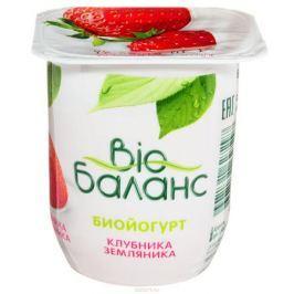Био-Баланс Биойогурт Клубника земляника Персик банан 2,8%, 125 г