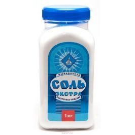 Salina соль экстра выварочная пэт-банка, 1 кг