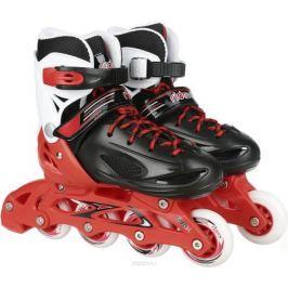 Коньки роликовые Ridex Rocky, раздвижные, цвет: черный, красный, белый. УТ-00008098. Размер 30/33