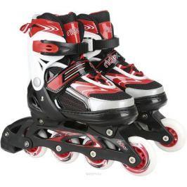 Коньки роликовые Ridex Target, раздвижные, цвет: черный, белый, красный. УТ-00008100. Размер 38/41