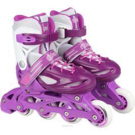 Коньки роликовые Ridex Sonny, раздвижные, цвет: фиолетовый, белый. УТ-00008099. Размер 38/41 Ролики
