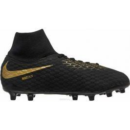 Бутсы для мальчика Nike Jr Phantom 3 Academy Df Fg, цвет: черный. AH7287-090. Размер 5,5Y (37)