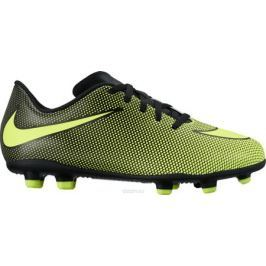 Бутсы для мальчика Nike JrBravata Ii Fg, цвет: желтый, черный. 844442-070. Размер 6Y (37,5)