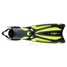 Ласты Tusa Solla с открытой пяткой, цвет: черный, желтый. TS SF-22 FY. Размер 40/44