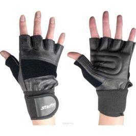Перчатки атлетические Starfit, цвет: черный. SU-125. Размер M