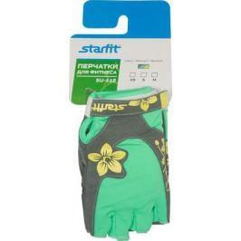 Перчатки для фитнеса Starfit, цвет: серый, мятный, желтый. SU-112. Размер XS