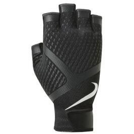 Перчатки для зала мужские Nike, цвет: черный, белый. Размер XL