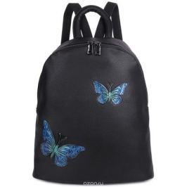 Рюкзак женский OrsOro, цвет: черный, 33 x 35 x 15 см. DS-854/2 Рюкзаки