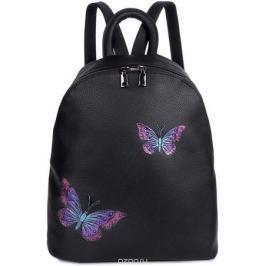 Рюкзак женский OrsOro, цвет: черный, 33 x 35 x 15 см. DS-854/1