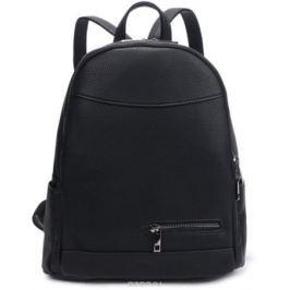 Рюкзак женский OrsOro, цвет: черный, 27 x 32 x 14 см. DS-840/1