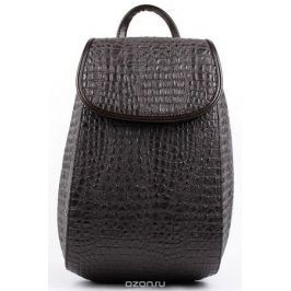 Рюкзак женский Медведково, цвет: темно-коричневый. 17с4512-к14