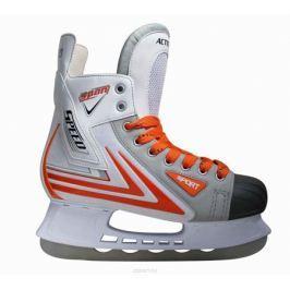 Коньки хоккейные Action, цвет: белый, красный. PW-217. Размер 39