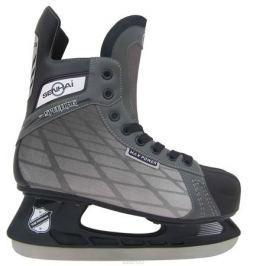 Коньки хоккейные Action цвет: серый, черный, бежевый. PW-540. Размер 46