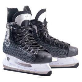 Коньки хоккейные КХЛ Legend, цвет: черный, серый, белый. УТ-00009137. Размер 46