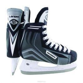 Коньки хоккейные мужские Larsen Ranger 11, цвет: черный, белый, серый. 338445. Размер 42