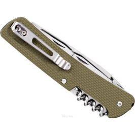 Нож складной туристический Ruike L21-G, цвет: зеленый