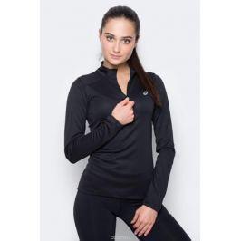 Лонгслив женский Asics LS 1/2 Zip Top, цвет: черный. 134108-0904. Размер XL (50)