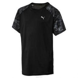 Футболка для мальчика Puma Gym AOP Tee, цвет: черный. 595072017. Размер 140