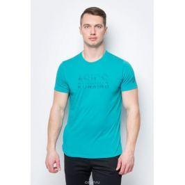 Футболка для бега мужская Asics Graphic SS Top, цвет: бирюзовый. 141265-8098. Размер S (44)