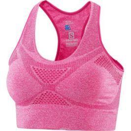 Топ-бра женский Salomon Medium Impact Bra, цвет: розовый. L40158500. Размер M (46/48)