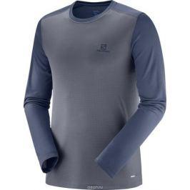 Лонгслив мужской Salomon Stroll Ls Tee, цвет: серый. L40406300. Размер XL (52)