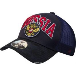 Бейсболка Atributika & Club Россия, цвет: черный, синий. 101563. Размер 55/58