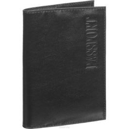 Обложка для паспорта мужская Fabula Estet, цвет: черный. O.3.MN