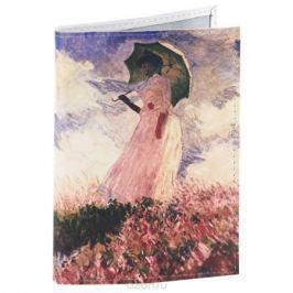 Обложка для паспорта Клод Моне - Дама с зонтиком. OK014