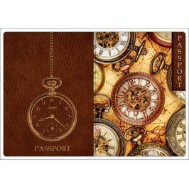 Обложка для паспорта Magic Home, цвет: коричневый, бежевый. 44511