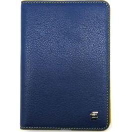 Обложка для паспорта женская Soltan, цвет: синий, желтый. 009 02 07/08
