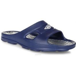 Шлепанцы мужские Umbro Slide, цвет: темно-синий, серебряный. 80490U. Размер 7 (38,5)