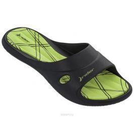 Шлепанцы женские Rider Slide Feet VII Fem, цвет: черный, зеленый. 82214-20534. Размер 39 (38)