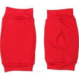 Наколенники для гимнастики и танцев Indigo, цвет: красный, 2 шт. Размер XS