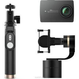Xiaomi YI 4K, Black экшн камера + стабилизатор и Bluetooth монопод