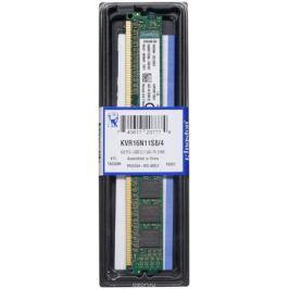 Kingston DDR3 4GB 1600 МГц модуль оперативной памяти (KVR16N11S8/4)