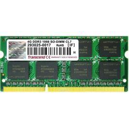 Transcend DDR3 SO-DIMM 4GB 1066МГц модуль оперативной памяти (TS512MSK64V1N)
