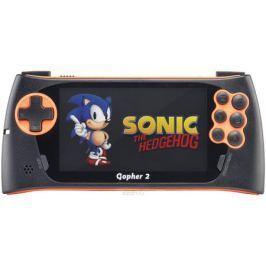 Sega Genesis Gopher 2, Orange портативная игровая консоль + 500 игр