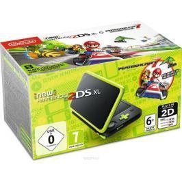 Игровая приставка New Nintendo 2DS XL, Black Lime + Mario Kart 7
