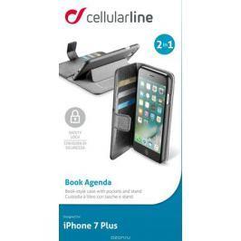 Cellular Line Book чехол для iPhone 7 Plus/8 Plus, Black, с карманами