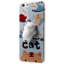 Fidget Go Cиликоновый кот чехол-антистресс для Apple iPhone 6 Plus, Grey