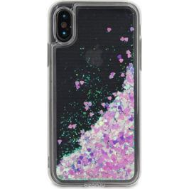 DYP Liquid Case Hearts чехол для Apple iPhone X, Pink Silver