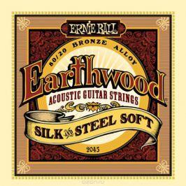 Ernie Ball Earthwood Silk & Steel Soft 80/20 Bronze струны для акустической гитары (11-52)